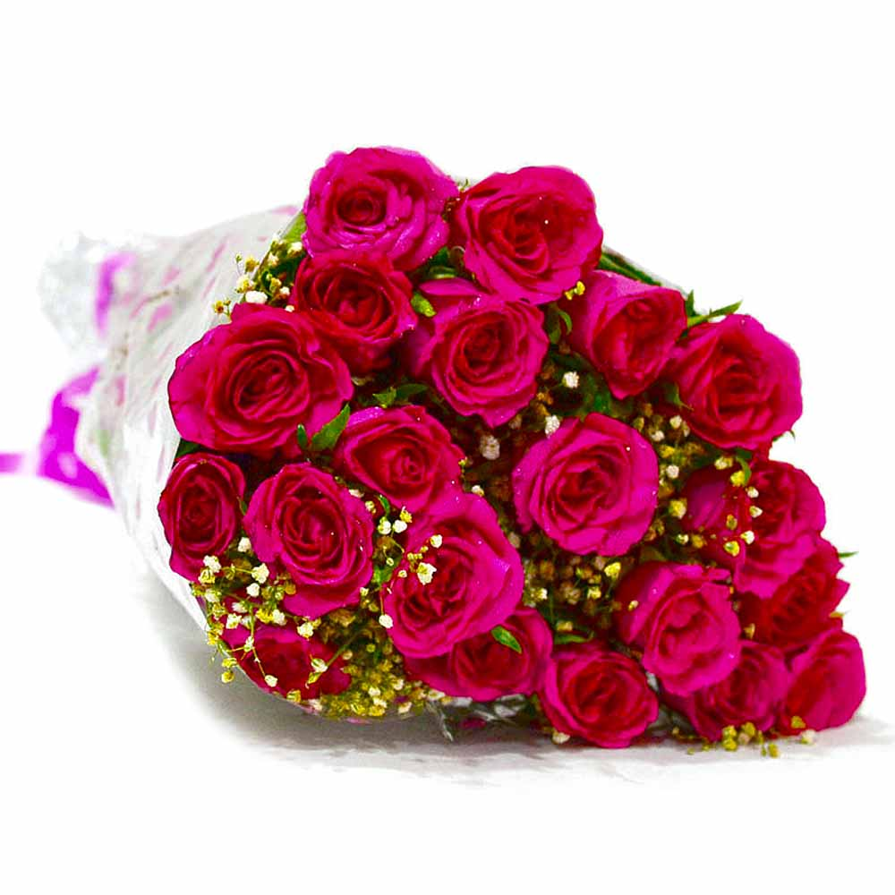 Bouquet of Twenty Pink Roses