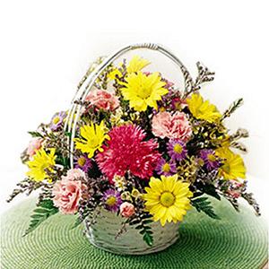 Seasonal Flowers-Basket Of Cheer
