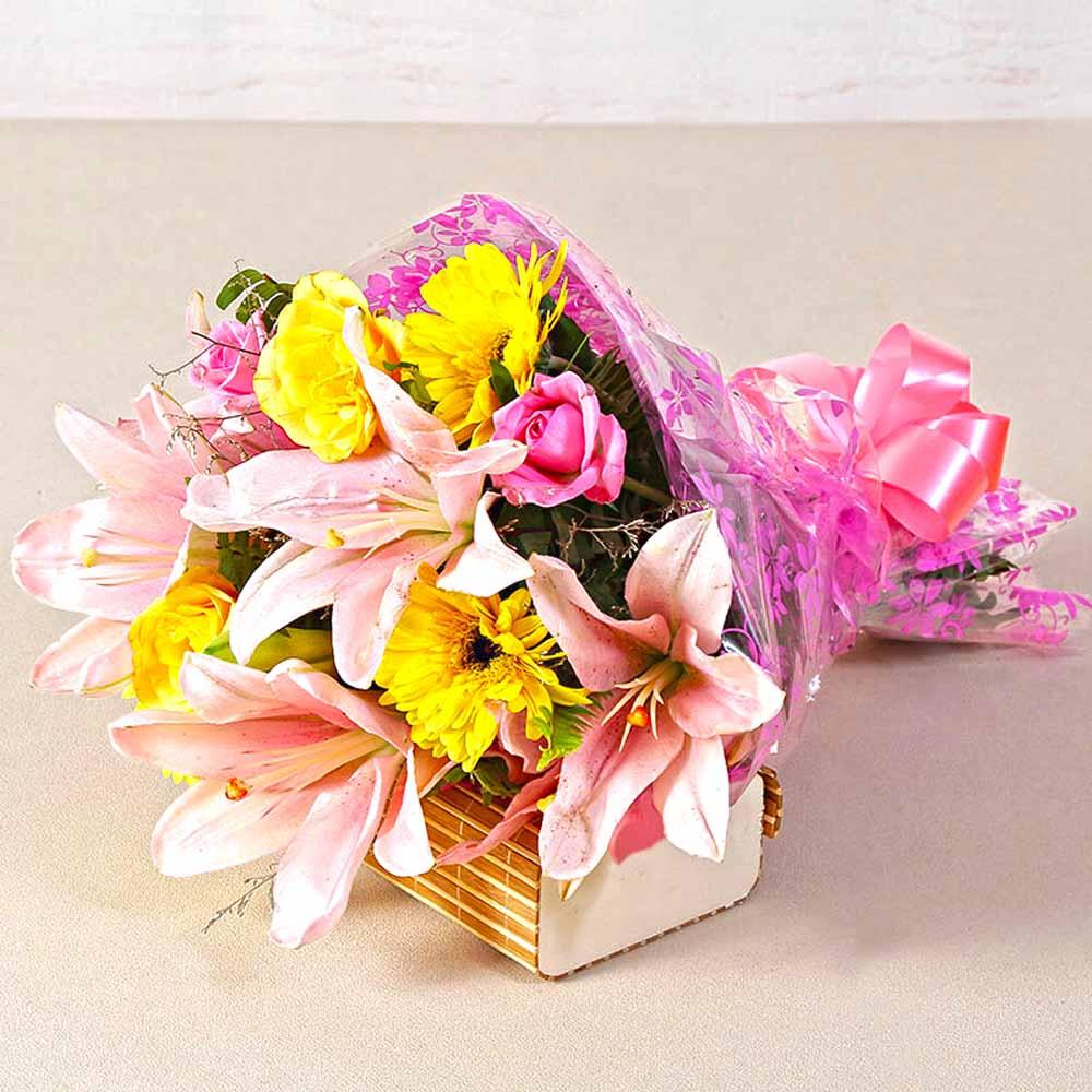 Exotic Ten Seasonal Flowers Bunch
