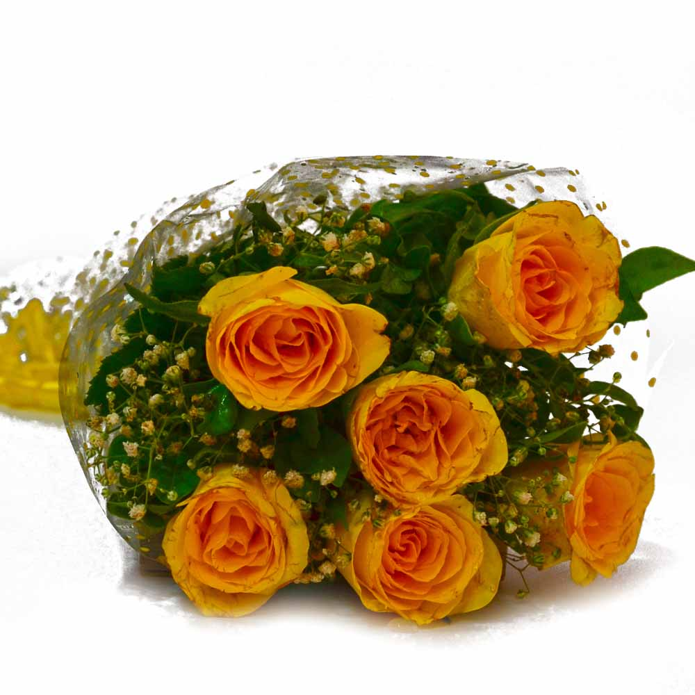 Birthday Special Yellow Roses Bunch