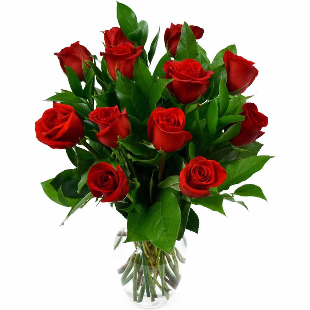 Romantic Gift Bouquet of Red Roses