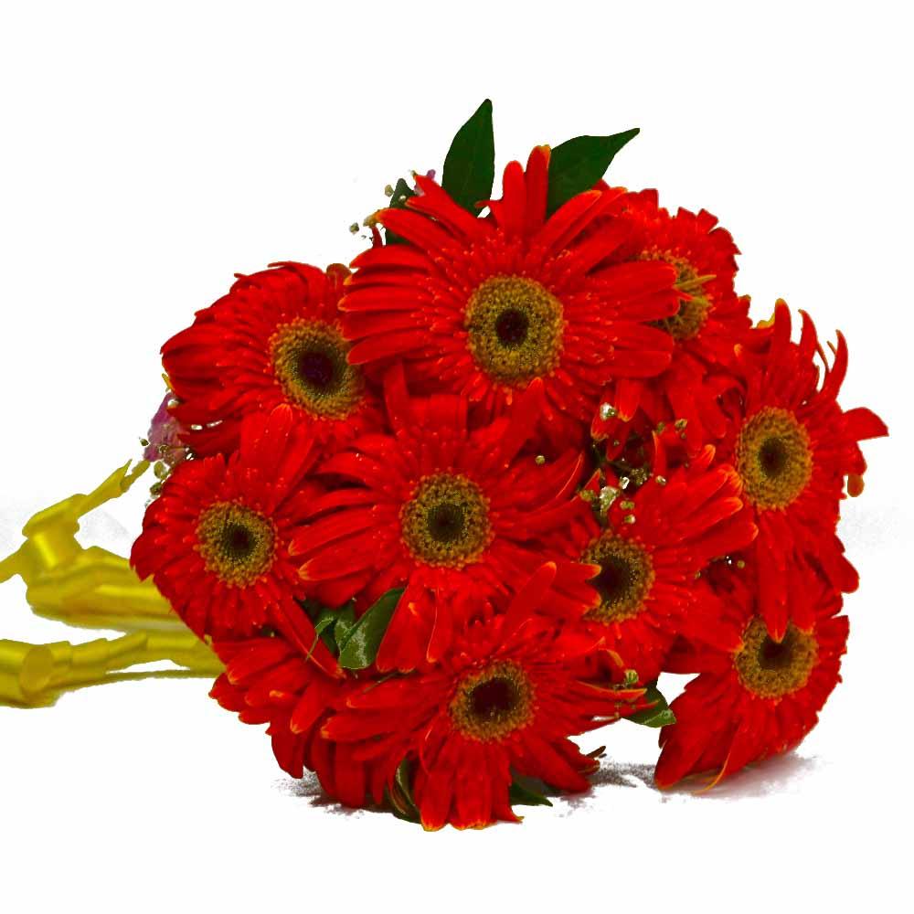 Bright Orange Gerberas Bouquet