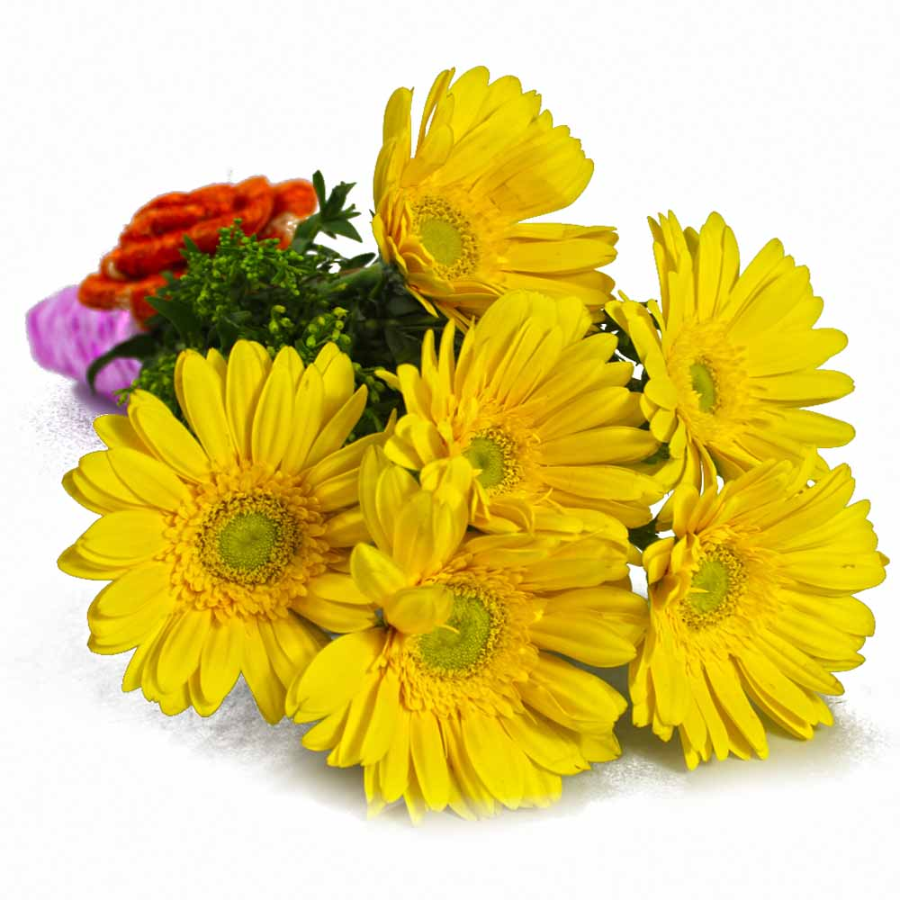 Gerberas-Bouquet of Yellow Gerberas