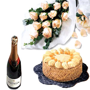 Wine Flower Hampers-Joyful and Thrilling
