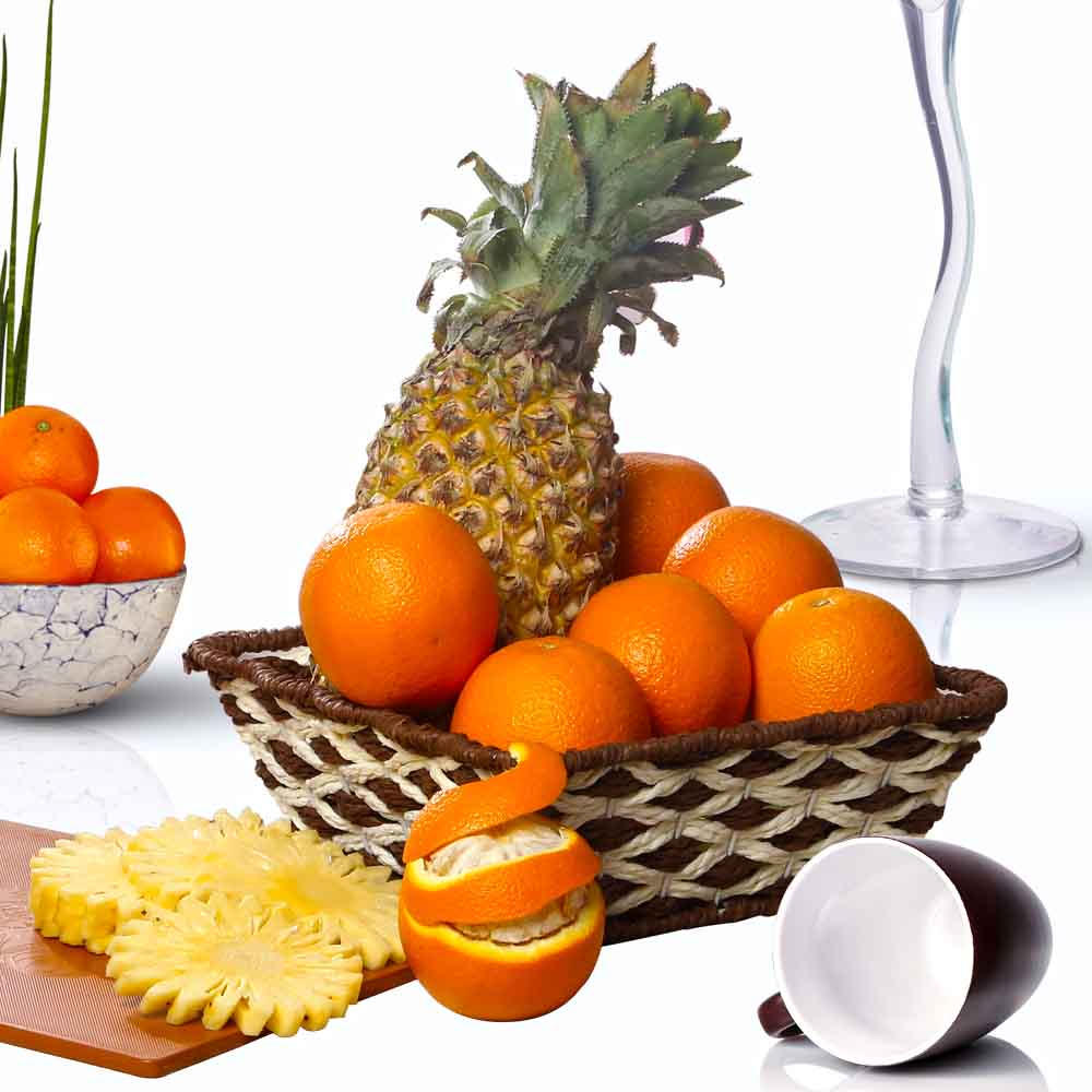 Fruit Hampers-Oranges and Pineapple Fruits Combo