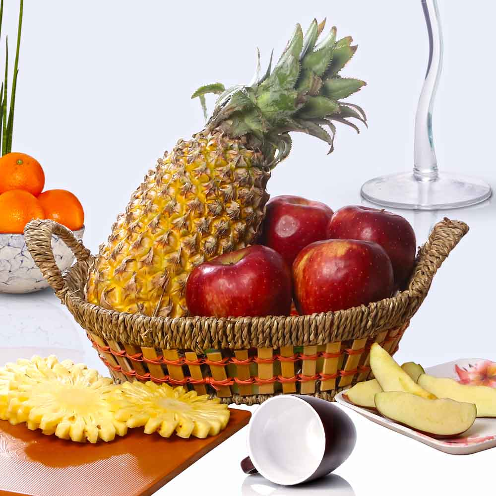 Basket of Healthy Fruits.