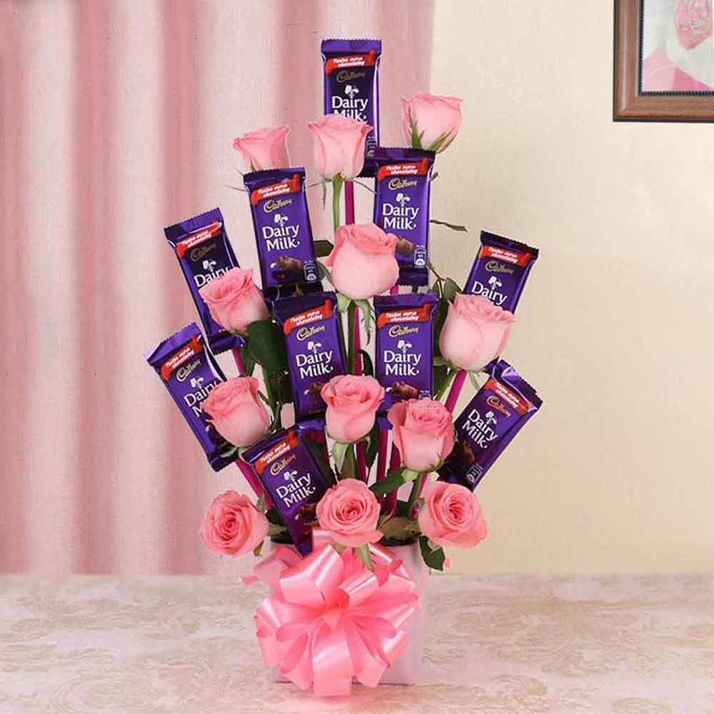 Pretty Pink Cadbury Chocolate Bouquet