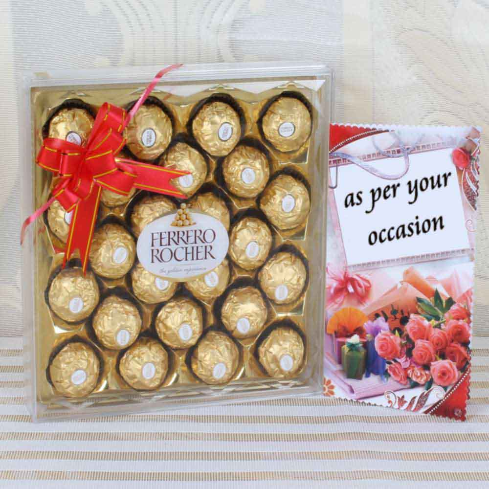Twenty Four Pieces Ferrero Rocher Chocolates Box Hand Delivery