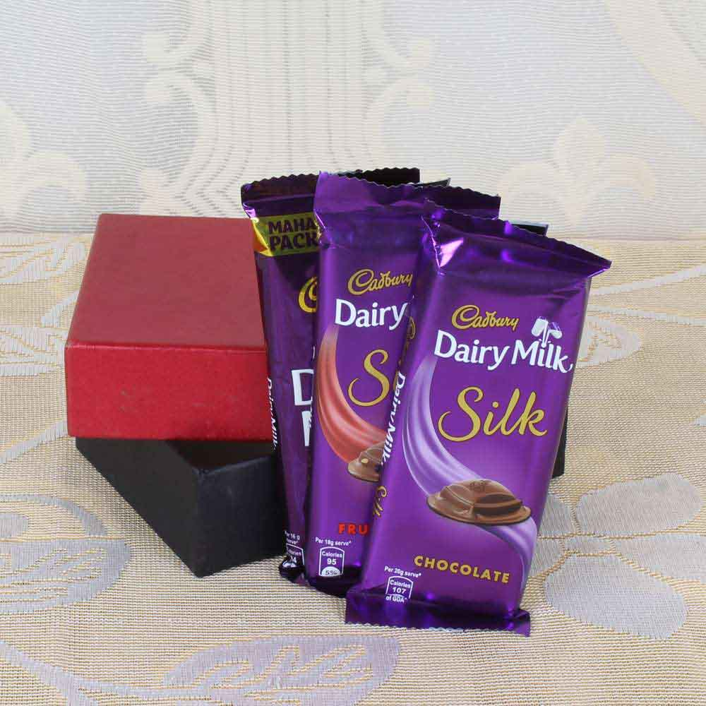 Express Delivery of Cadbury Dairy Milk Silk Chocolates in Box