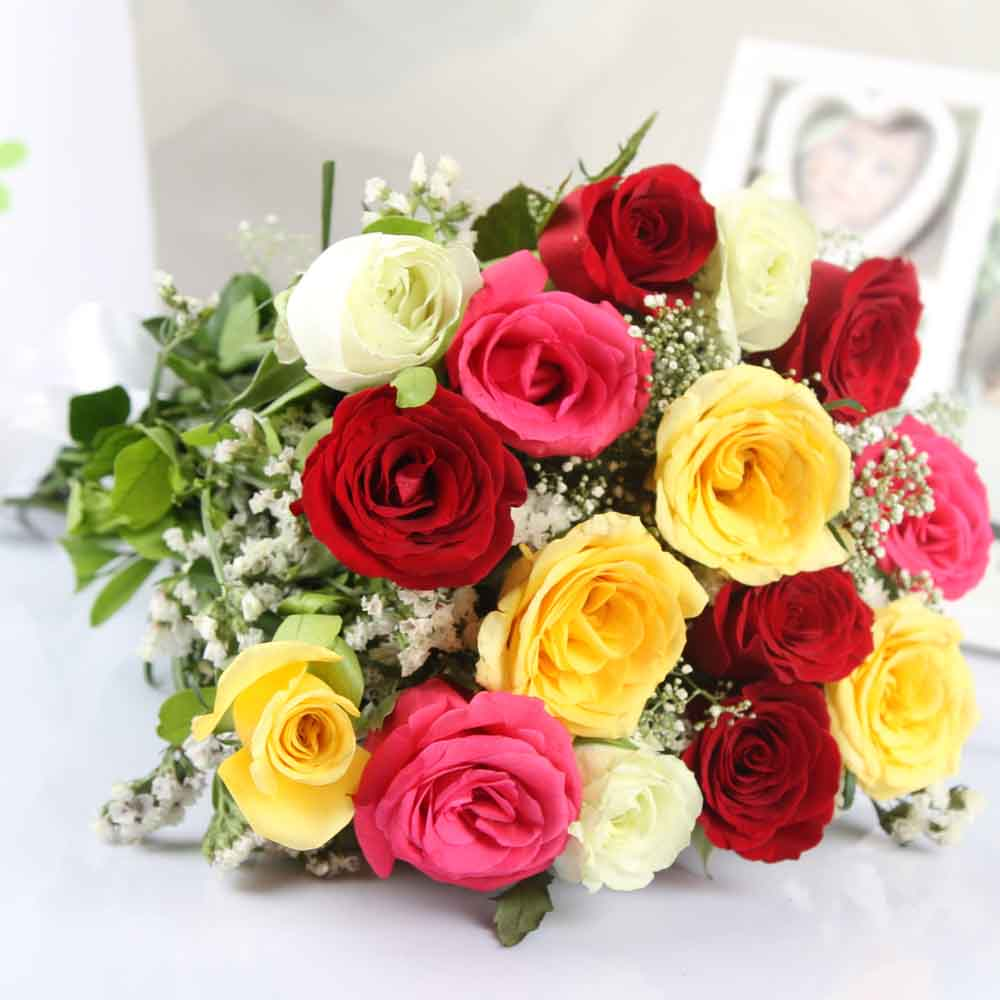 Designer Arrangements-Beautiful Mix Roses Bouquet