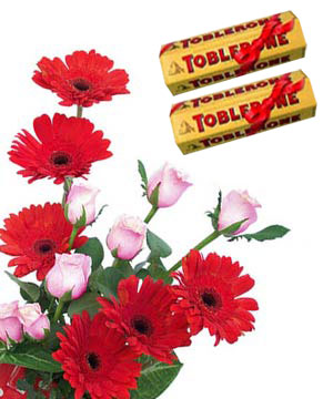 Toblerone & Fresh Flowers