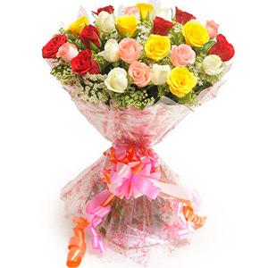 Mix Colored Roses-Elegant Mix