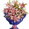 Gift Pink Stargazer Lilies on Mothers Day