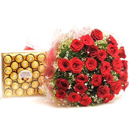 Chocolates & Flowers-Yummy N Rosy