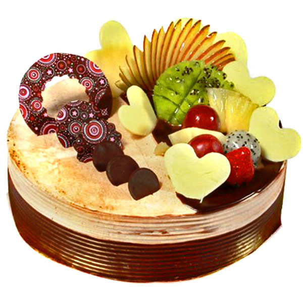 The Exotic Chocolaty Fantasy Eggless Cake
