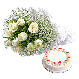 Cakes & Flowers-Sweet Heavenly Hamper