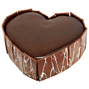 All India Cakes-Heart Out Chocolate Cake