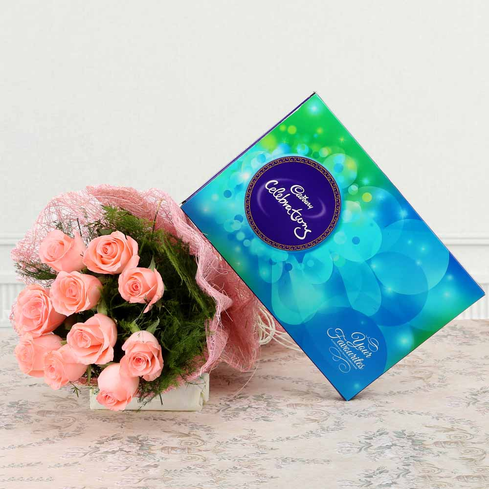 Flowers & Chocolates-Royal Pink