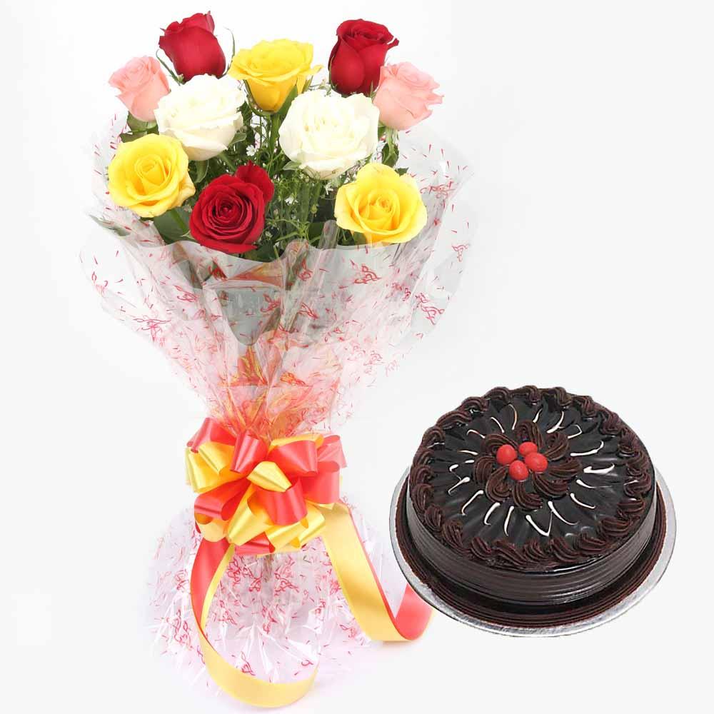 Chocolate Cake N Roses - VL