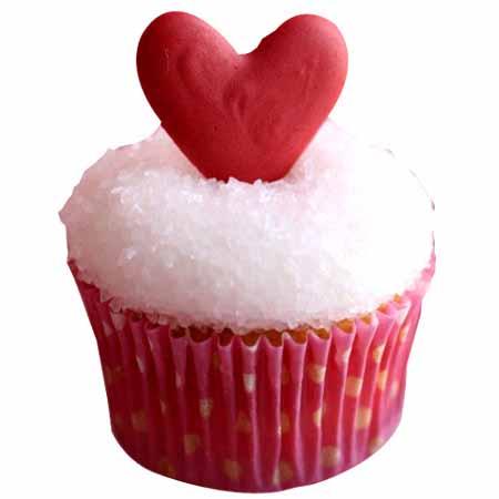 Classic Valentine Heart Cupcake