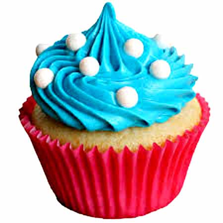 Blue Coffee Cupcakes