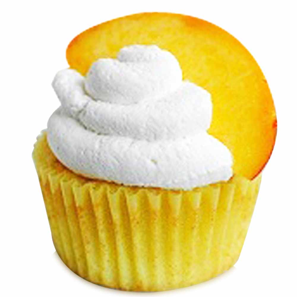 Peaches and Cream Cupcakes