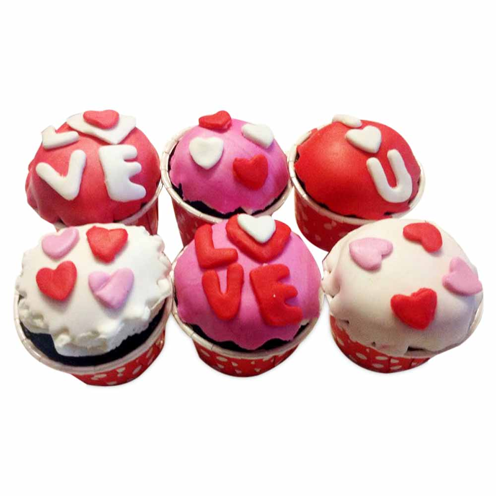 6 Valentine Special Cupcakes