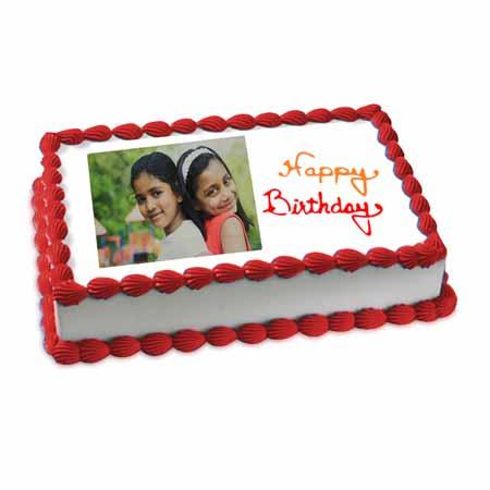 Happy Birthday Photo Cake Eggless 1kg