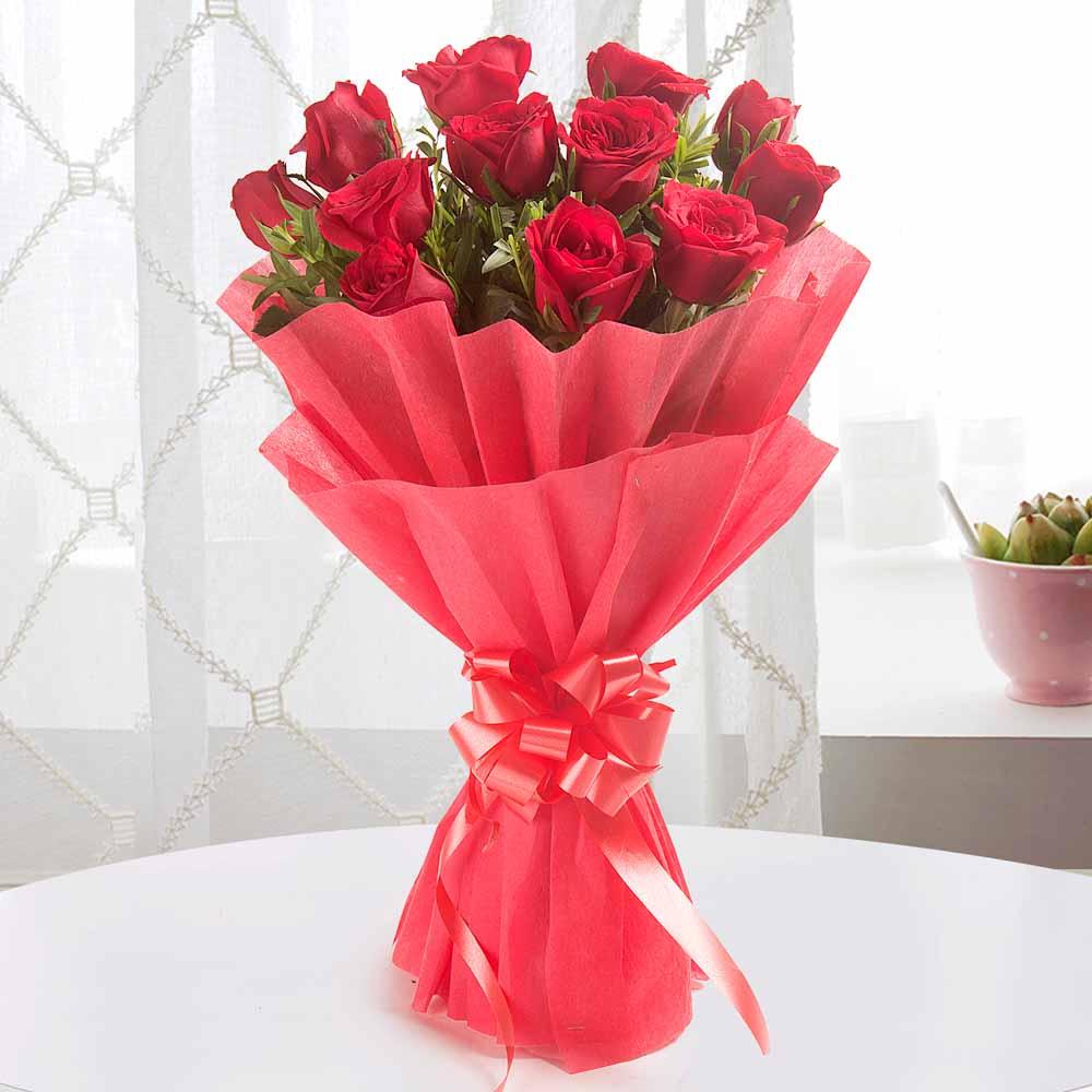 Designer Arrangements-Enigmatic 12 Red Roses