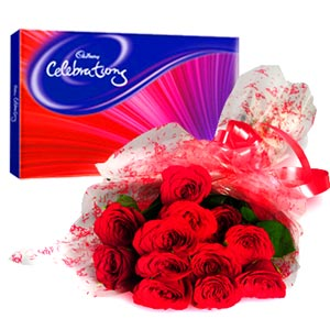 Flowers & Chocolates-Roses & Celebration