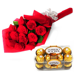 Flowers & Chocolates-Charming Roses