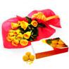 Roses with Motichur Laddu