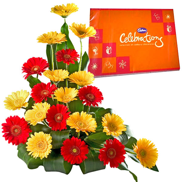 Gerbera and Chocolate Arrangement - Father's Day Gifts