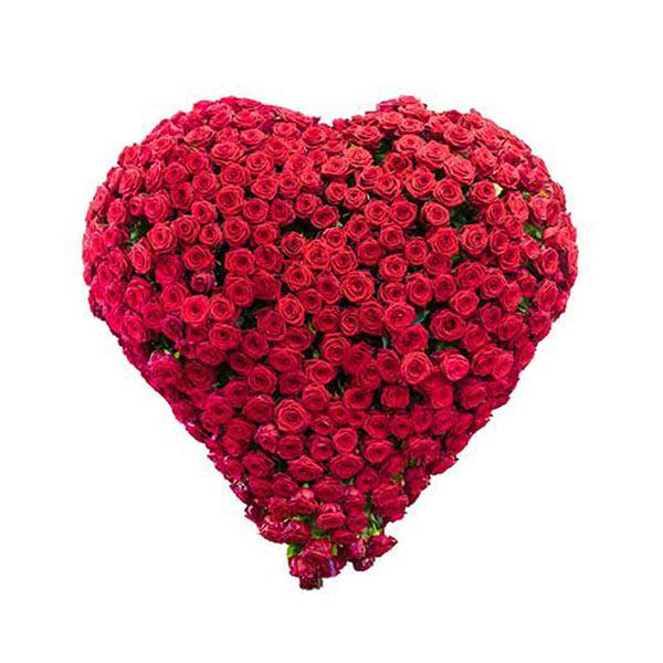 Pune-200 red rose heart shape basket