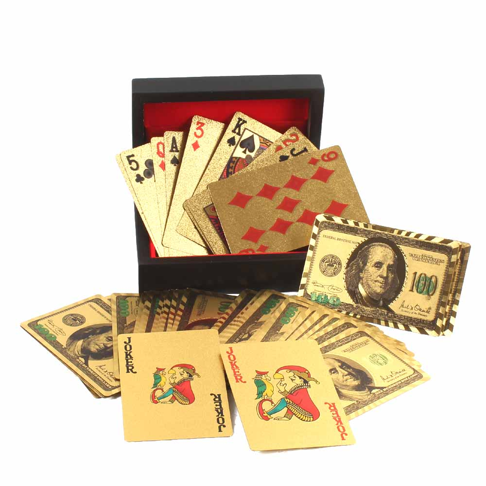 Gold Plated Playing Cards Box