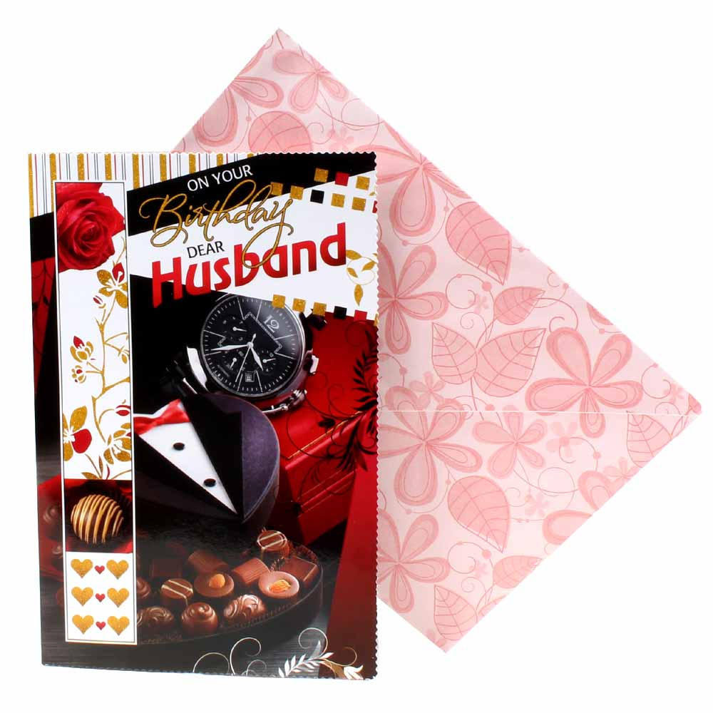 Husband Birthday Greeting Card