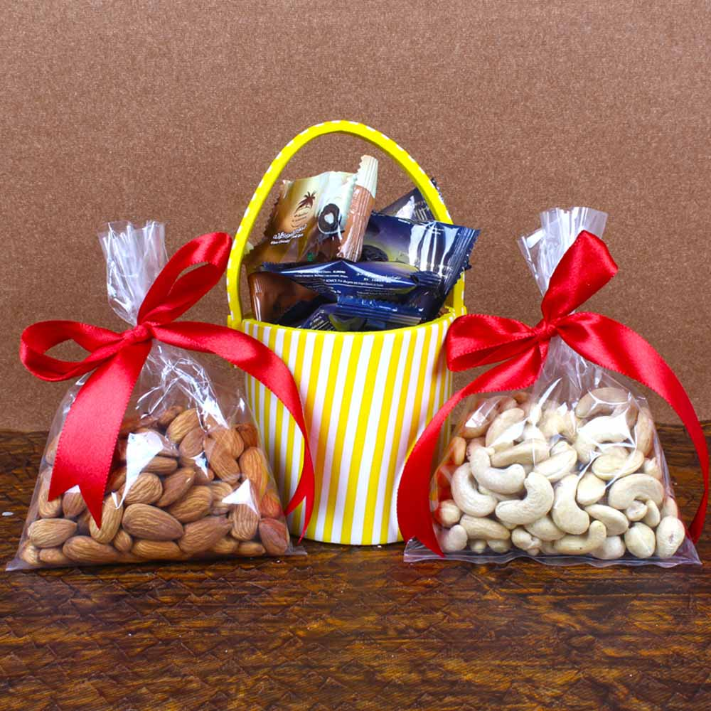 Almond with Cashew and Chocolate Dates