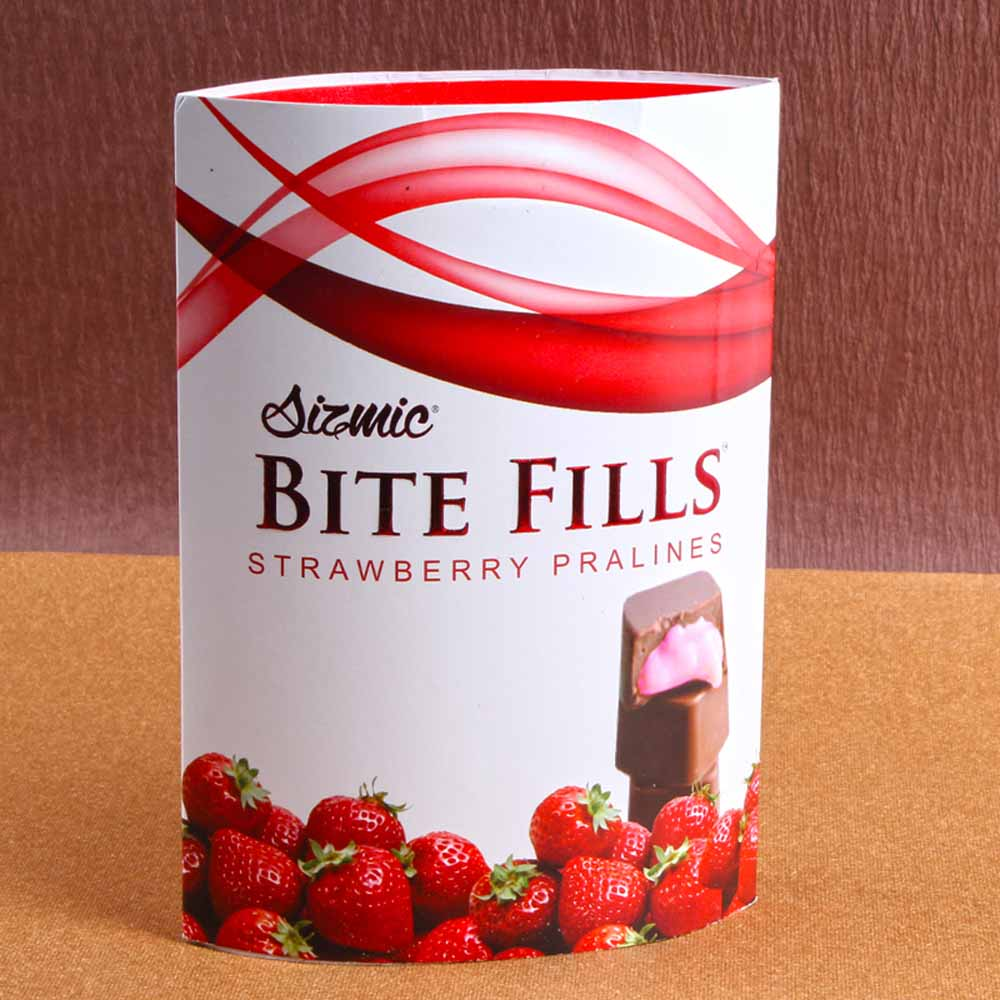 Sizmic Bite Fills Strawberry Pralines
