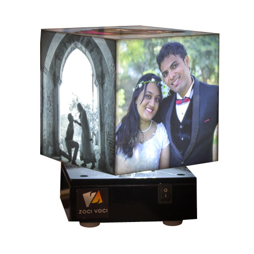 Nostalgia Personalised Rotating Lamp