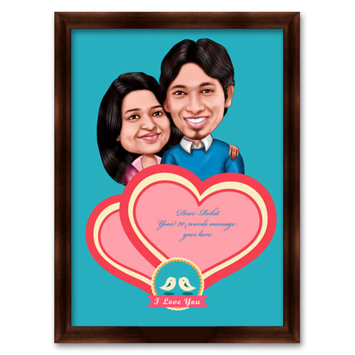 Love Story Desktop Caricature