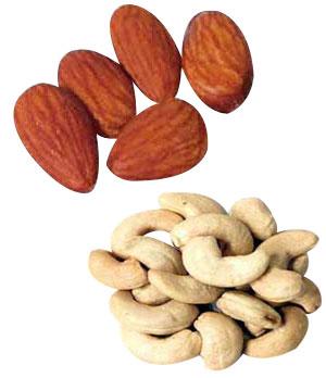Αποτέλεσμα εικόνας για almonds cashews