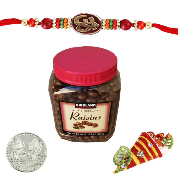 Rakhi with Kirkland Signature Milk Chocolate Raisins