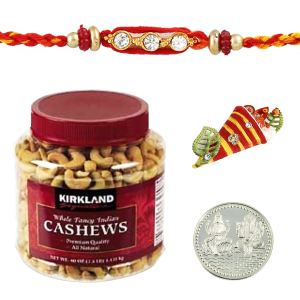 Rakhi with Kirkland Signature Fancy Indian Cashews