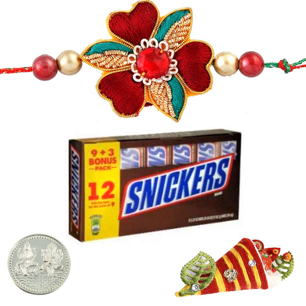 Rakhi with Snickers Milk Chocolate Bars