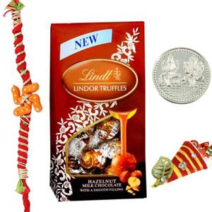 Chocolates-Lindt Lindor Truffles - Milk Chocolate Rakhi Delight