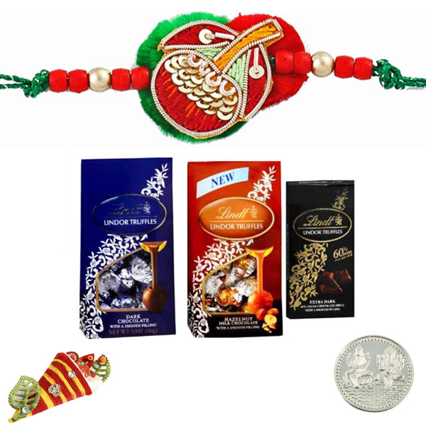 Lindt Lindor Truffles - Party Pack of 3 Rakhi Delight