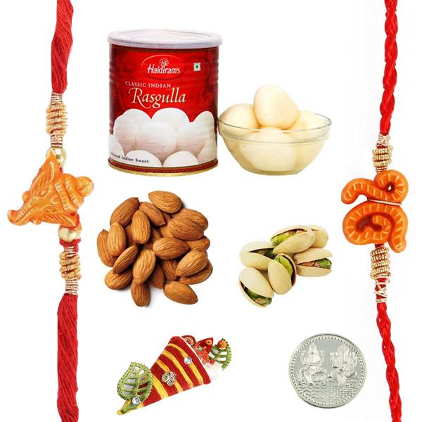 Rasgulla Dryfruits Rakhi Pack