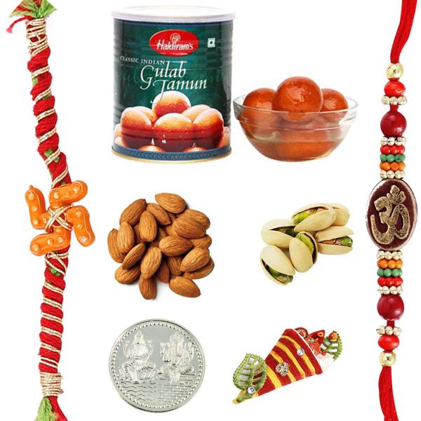 Gulab Jamun Dryfruits Rakhi Pack
