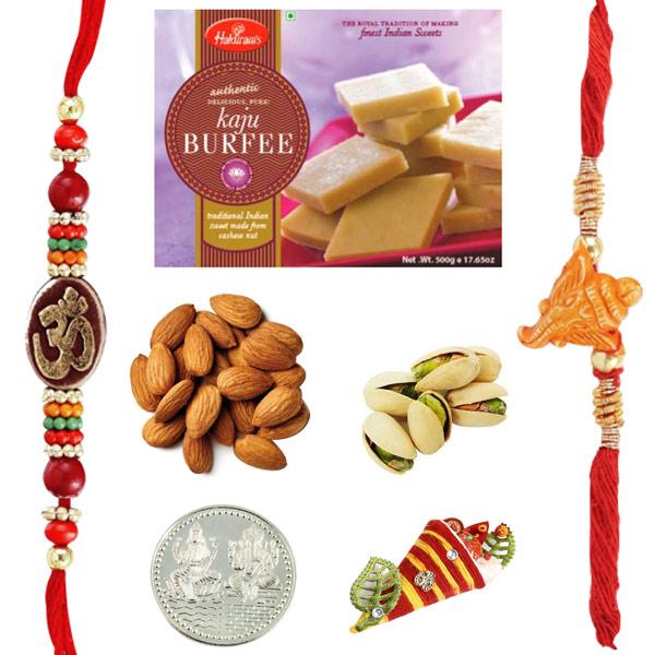 Haldiram Kaju Burfi Dryfruits Rakhi Pack