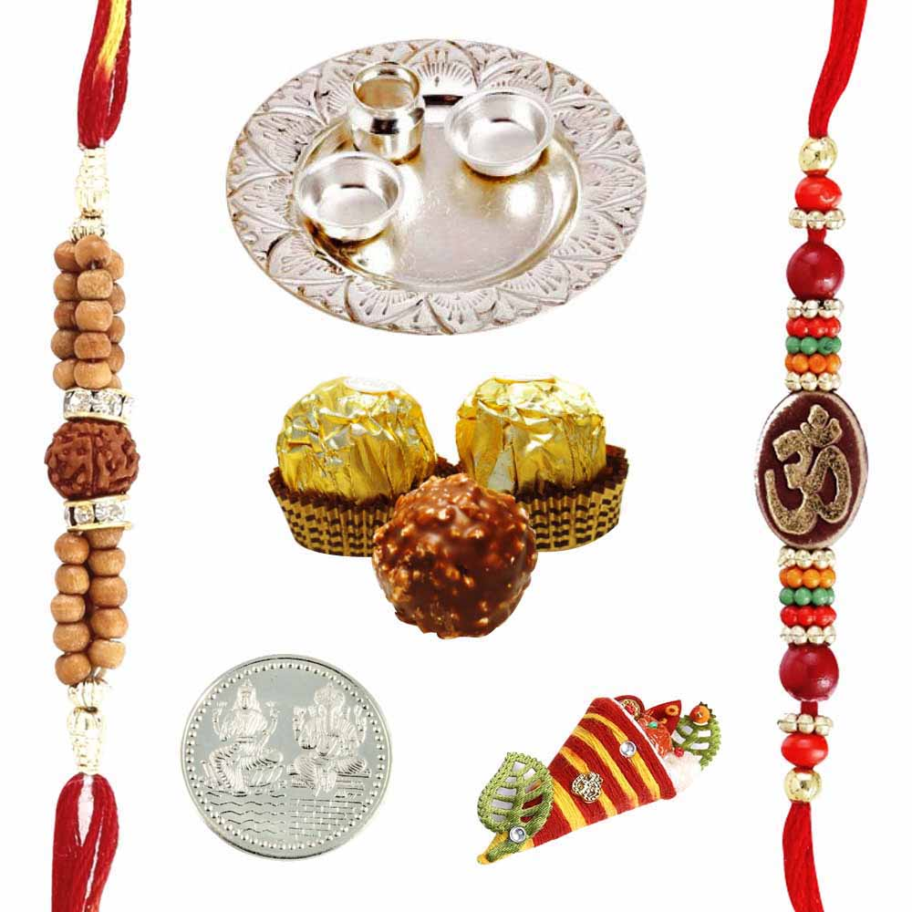 Silver Thali with Ferrero Rocher